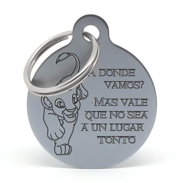 Chapa para perro - Nala (gris)