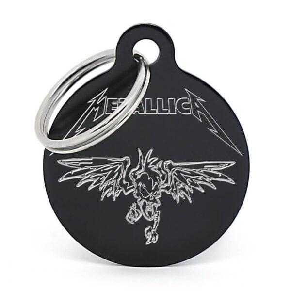 Placa para perro - Metallica (negro)